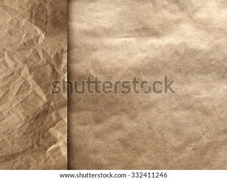 Creased paper background - stock photo