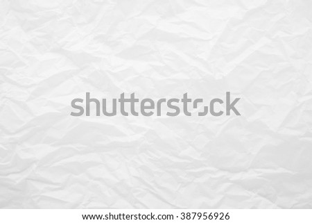 Creased white eco paper background. Recycled paper texture. - stock photo