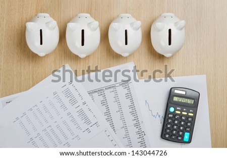 Create a plan for saving money - stock photo
