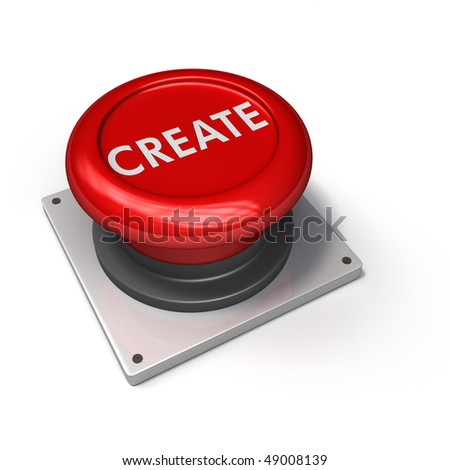 Create Button (Red) - stock photo