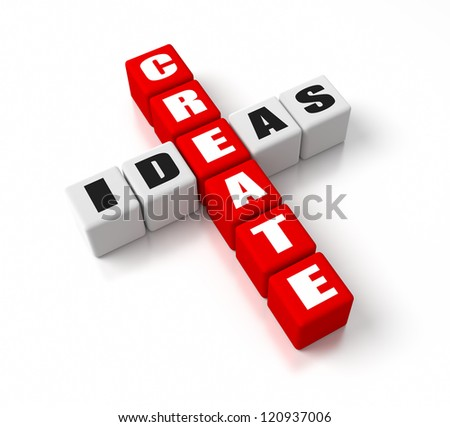 Create Ideas crosswords. Part of a business concepts series.