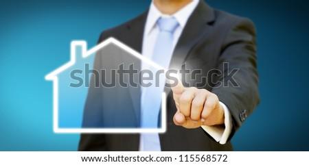 Create your company businessman concept - stock photo