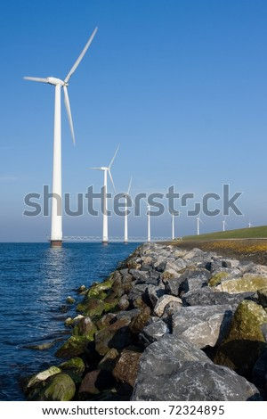 Creating green energy - stock photo