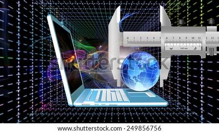 Creation computer technologies.Internet - stock photo