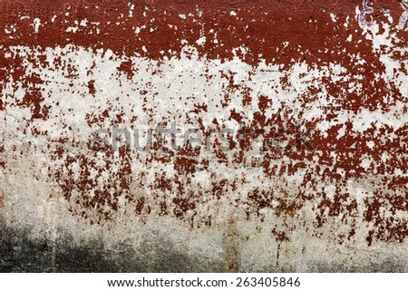 Creative Abstract brown background concrete, weathered with cracks and scratches. Landscape style. Grungy Concrete Surface. Great background or texture. - stock photo