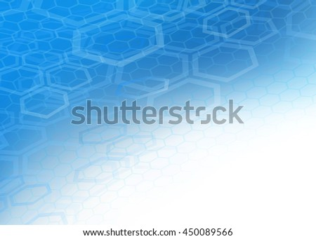 Creative abstract high resolution blue faded hexagonal/geometric layered design illustration background perfect for Medical, Healthcare, Finance and Science and many other Professional Businesses. - stock photo