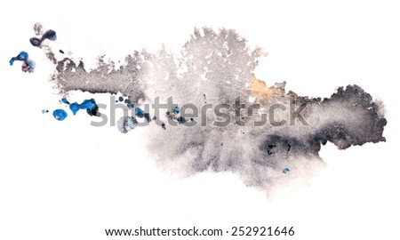 Creative abstract mixed media background or texture,design element, isolated on paper background - stock photo