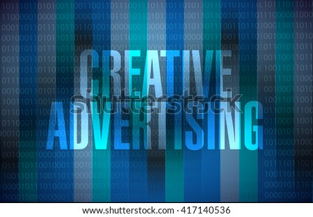 creative advertising binary background sign illustration concept design graphic