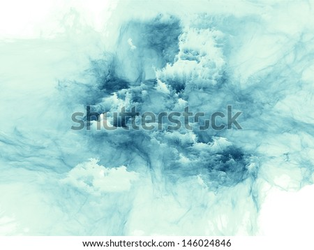 Creative arrangement of bursting strands of fractal smoke and paint to act as complimentary graphic for subject of design, science, technology and creativity - stock photo