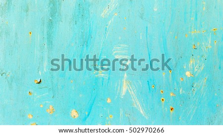 Creative background of rusty metal, painted blue. Grungy metal surface. Great background or texture for your project.