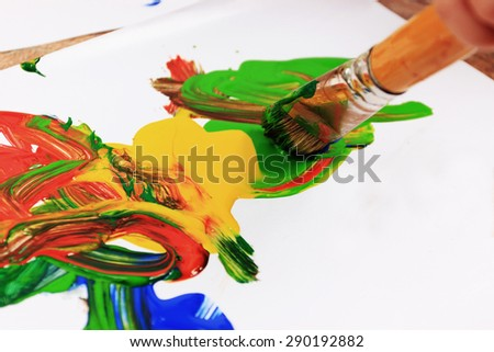 Creative background or Painting brush - stock photo