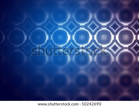 creative background with blue defocused effect