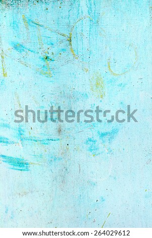 Creative beautiful blue background, blue spray paint on concrete with cracks and scratches. Landscape style. Grungy concrete surface. Great background or texture. - stock photo