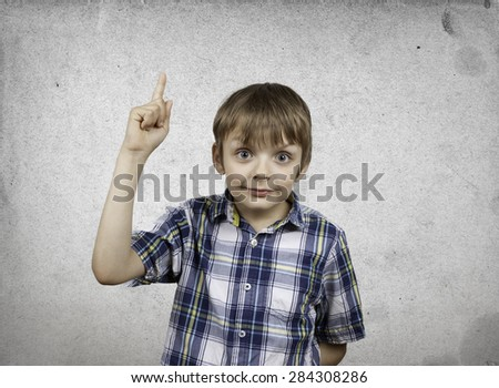 Creative boy with innovative ideas on the background. - stock photo