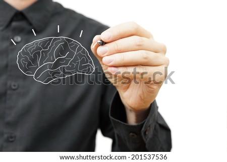 Creative Brain Idea concept - stock photo