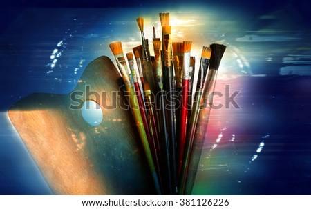 Creative Brush Set - stock photo