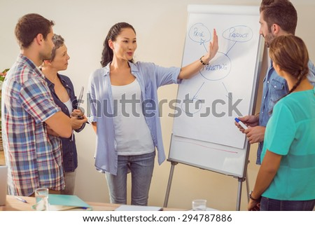 Creative business team in meeting at the office - stock photo