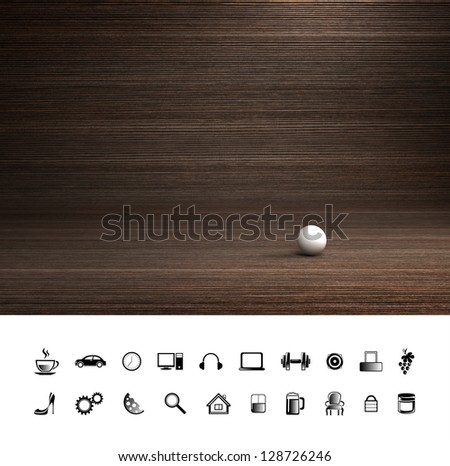 Creative cafe wood background. Proffesional photo studio place. - stock photo