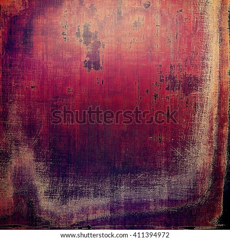 Creative elegant design used as retro background for your art project. With grunge texture and different color patterns: yellow (beige); brown; red (orange); purple (violet); pink - stock photo