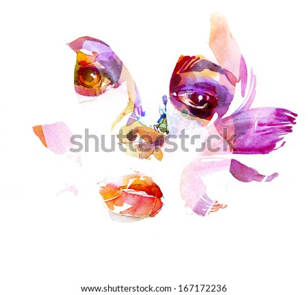 Creative fashion portrait - stock photo
