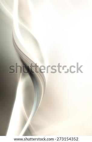 Creative fractal wave - stock photo