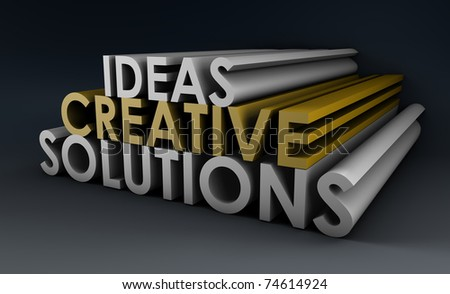 Creative Ideas and Solutions as 3d Illustration - stock photo