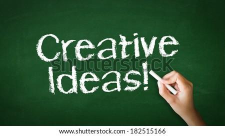 Creative ideas Chalk Illustration - stock photo