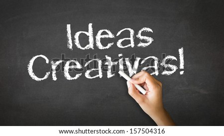 Creative ideas (In Spanish) - stock photo