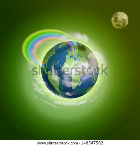 Creative illustration of planet earth/Planet earth/Illustration design