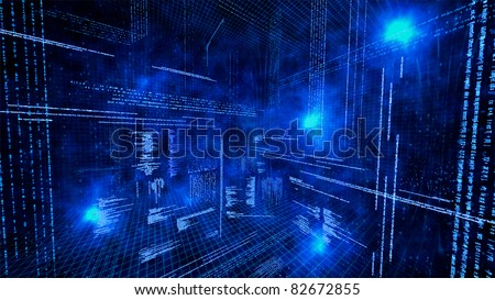 Creative image of coding concept - stock photo