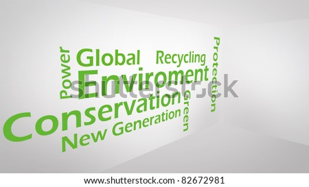 Creative image of green concept - stock photo