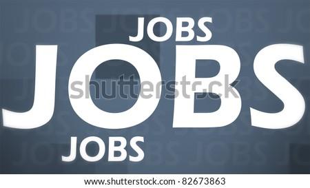 Creative image of grey jobs concept - stock photo