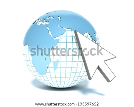 Creative internet, www and global communication network concept - stock photo
