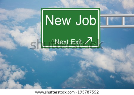 Creative New Job Road Sign  - stock photo