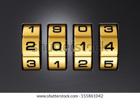 Creative New Year 2014 concept - stock photo