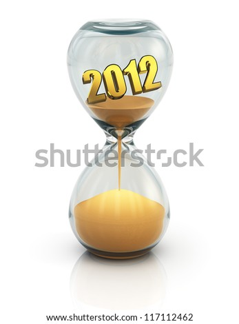 Creative New Year 2013 concept isolated on white background with reflection effect - stock photo