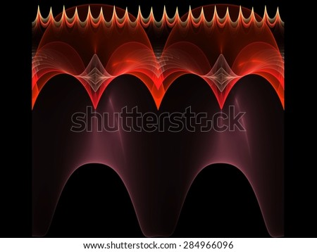Creative patterned domes abstract fractal - stock photo