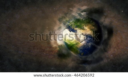 Creative Planet Earth Artwork - Middle Eastern Globe (Reference Elements of this image furnished by NASA)