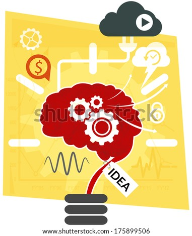 Creative Process - Illustration - stock photo