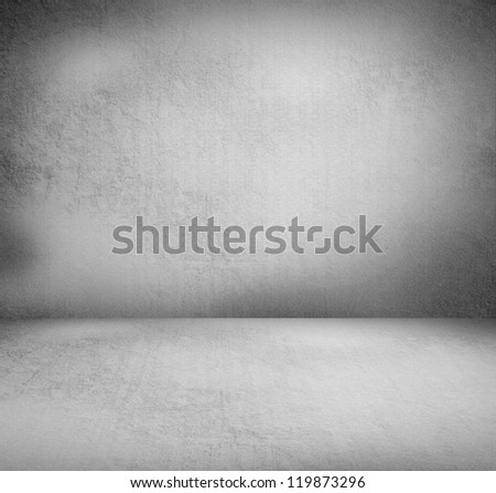 Creative retro background. Inside an empty grunge room - stock photo