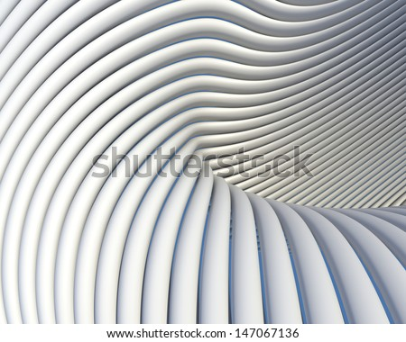 Creative shapes conceptual background. Abstract architectural wallpaper - stock photo