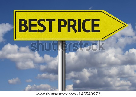 Creative sign with the message - Best Price - stock photo