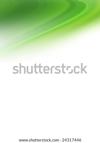 creative spring green blur on white background