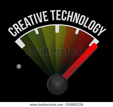 creative technology meter sign concept illustration design graphic