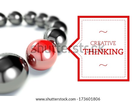 Creative thinking individuality business unique concept - stock photo