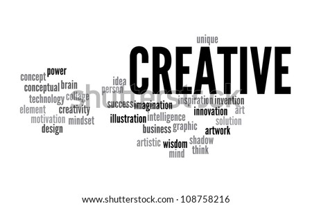 Creative Thinking info-text graphics and arrangement concept on white background - stock photo