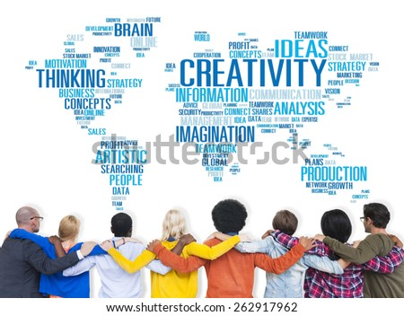 Creativity Artistic Imagination Inspiration Innovation Concept - stock photo