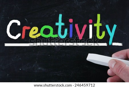 creativity concept - stock photo