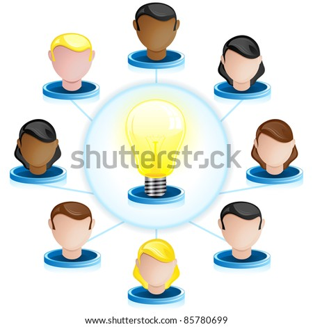 Creativity Network Crowdsourcing - stock photo