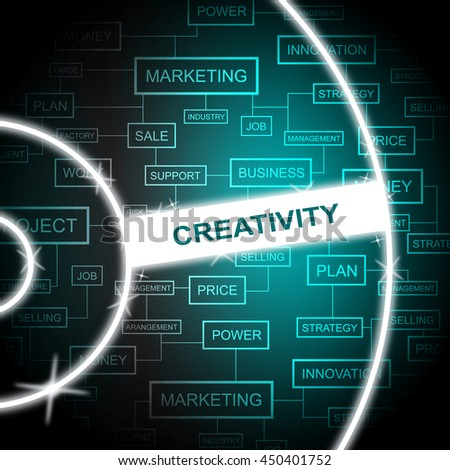 Creativity Word Representing Talent Concept And Innovation